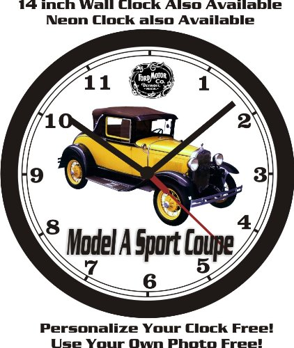 1930 FORD MODEL A SPORT COUPE WALL CLOCK-FREE USA SHIP! - 1930 Wall