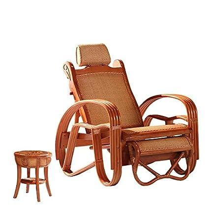 Natural bamboo - rattan wicker chaise lounge chair set/ longuer / recliner / reclining chair  sc 1 st  Amazon.com & Amazon.com : Natural bamboo - rattan wicker chaise lounge chair set ...