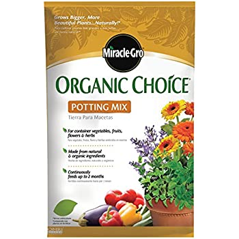Miracle-Gro 72983510 Organic Choice Potting Mix, 32-Quart (currently ships to select Northeastern & Midwestern states)