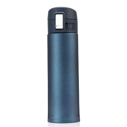 AYUTOY 500ml Botella Aislada Al Vacío Vacuum Flask termo de doble Leak Proof Aislada Al Vacío de Acero Inoxidable Botella (Azul)