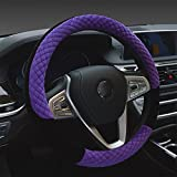 LPY-Winter Car Stretch-On Steering Wheel Cover ( Diameter 13.7in-15.7in)