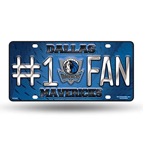 (NBA Dallas Mavericks #1 Fan Metal License Plate Tag)