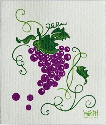 Wet-It! Cleaning Cloth, Grapevine, Super Absorbent, Reusable, Biodegradable, All-Purpose