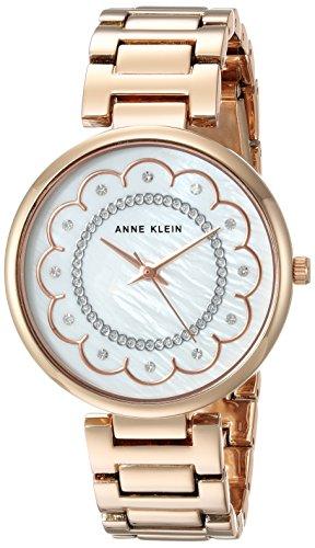 Anne Klein Women's AK/2842MPRG Swarovski Crystal Accented Rose Gold-Tone Bracelet Watch