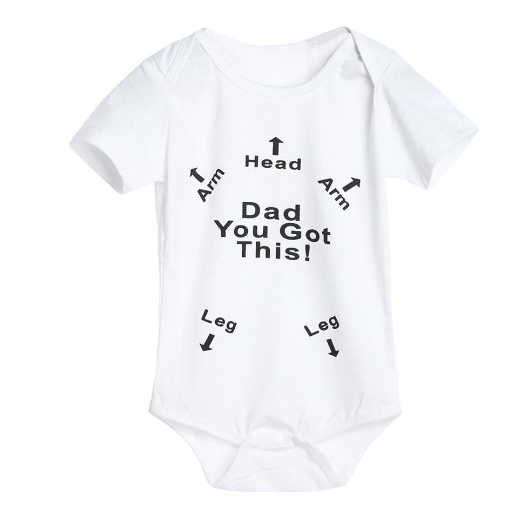 2f8d0c0c4 Igemy Newborn Infant Baby Boys Girls Letter Print Romper Jumpsuit ...