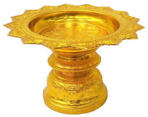 12'' Tray Thai Buddhism Style Worship Offering Pedestal to Buddha Altar Amulet Free Shipping Made From Thailand