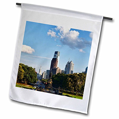 3dRose Cities Of The World - Philadelphia, Pennsylvania - 18 x 27 inch Garden Flag (fl_268665_2)