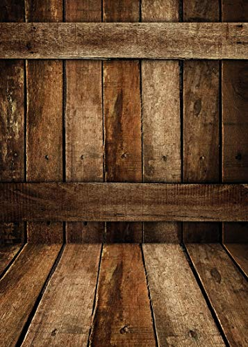 AIIKES 5x7ft Vintage Wood Backdrops for Photography Grunge Wooden Plank Board Children Adults Portrait Photography Background Props for Photo Studio, Photo Booth, 10-929