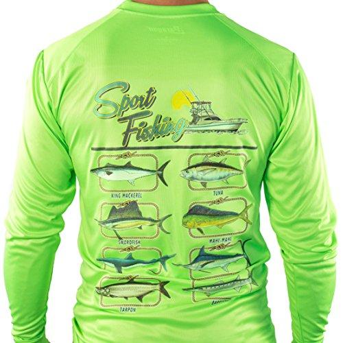 All american fishing ultimate dri fit fishing shirt upf 30 for Dri fit fishing shirts