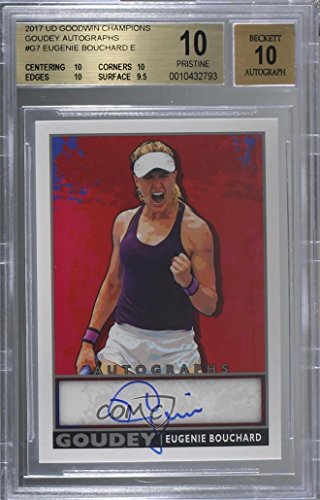 (Genie Bouchard Graded BGS 10 PRISTINE Genie Bouchard (Trading Card) 2017 Upper Deck Goodwin Champions - Goudey - Autographs [Autographed])