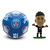 Paris Saint Germain PSG Size 5 Soccer Ball & Neymar SoccerStarz Combo Pack