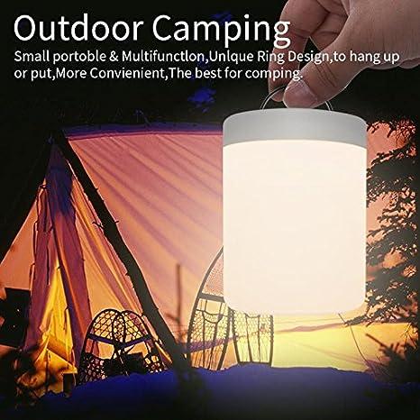 FiDi Tek Lampe de chevet LED avec contr/ôle tactile rechargeable et variateur dintensit/é RVB pour chambre de b/éb/é bureau et camping Acrylique butadi/ène styr/ène 2,4/W