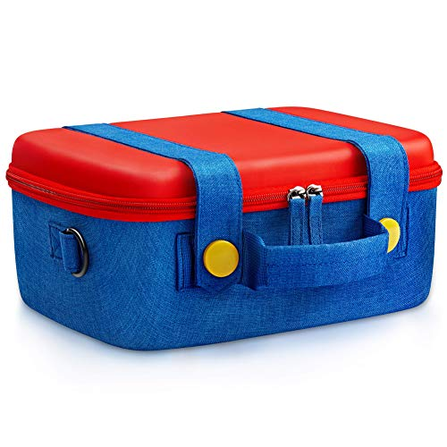 Funlab Travel Carrying Case Compatible with Nintendo Switch,Cute and Deluxe Carry Bag with 14 Games Storage for Console & Accessories from FUNLAB