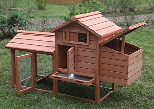 Ardinbir-Deluxe-58-Wood-Chicken-Coop-Hen-House-Rabbit-Hutch-Pet-Cage-w-Run-Nesting-Box