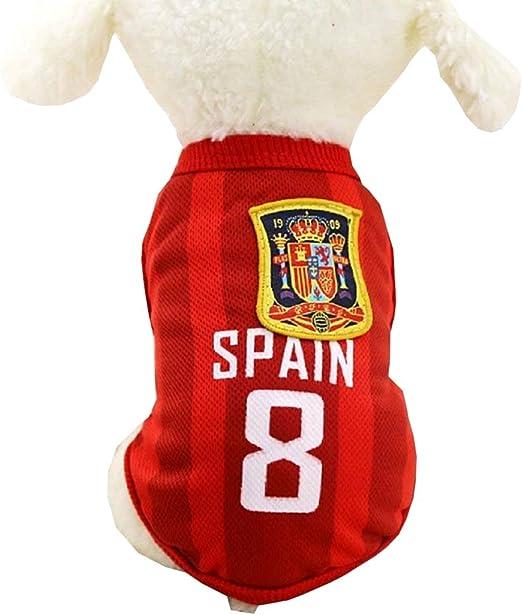 KIRALOVE Disfraz de fanático - Equipo de fútbol - microbist - ultrà - españa - Perro - m - Disfraces - Carnaval de Halloween - Idea de Regalo Original: Amazon.es: Productos para mascotas