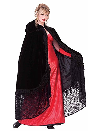 Forum Novelties Victorian Cape with Lace, Black, One Size