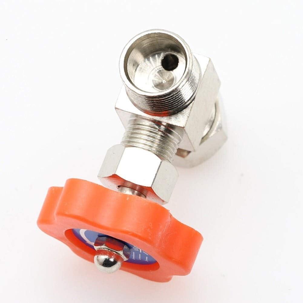 Wgd FA 1pc Needle Valves Specification : 6mm 6mm 8mm 10mm 12mm Hole Dia Orange Plastic Handle Metal High Pressure Durable Tube Needle Type Globe Valve Accessories