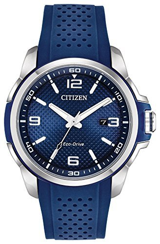 - Citizen AR Blue Dial Silicone Strap Men's Watch AW1158-05L