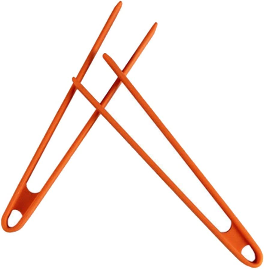Loghot Kitchen Premium Silicone Trivet Tongs Heat Resistant Food Tongs for Barbecue Cooking and Salads Utensil Random Color (2 Pack)