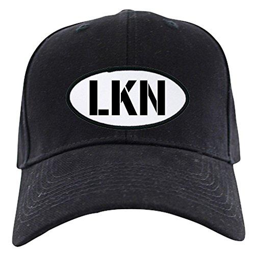 CafePress - LKN On Oval Patch On Black Cap - Baseball Hat, Novelty Black Cap (Patch Cap Oval)