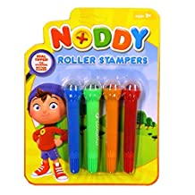 Noddy in Toyland Roller Stamper Pens Double Ended, Pack of 4, Different Shapes and Colours