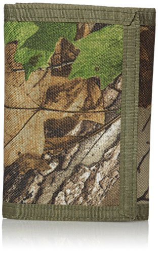 RealTree Men's Nylon Trifold Wallet, Camo, One Size