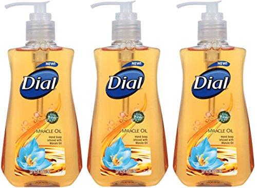 Moisturizer Dial Liquid (Dial Miracle Oil Liquid Hand Soap 7.5 Oz- 3 Pk)
