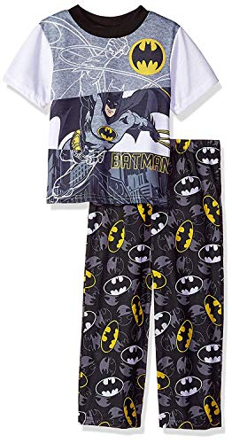 DC Comics Boys' Little Batman 2-Piece Pajama Set, Split Hero, 6 ()