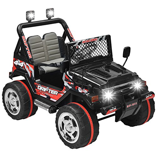 Uenjoy  Kids Ride on Car /12V Electric Car for Kids with Remote Control/ 3 Speeds/ Leather Seat/ Head Lights Model HP-011 - -