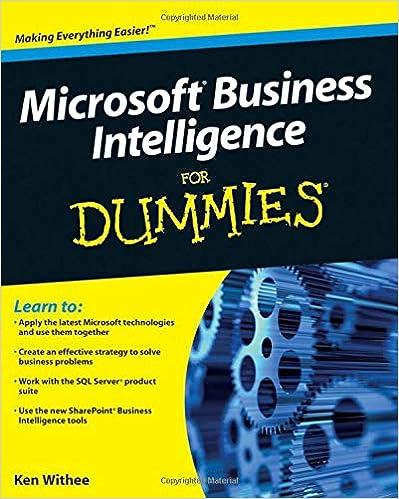 Amazon com: Microsoft Business Intelligence For Dummies