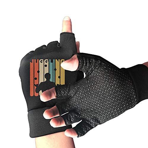 Hunting Shockproof Vintage 1970s Style Juggling Half Finger Short Gloves Outdoor Sports Working Gloves ()