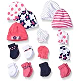 Gerber Baby Girls' 15 Piece Sock, Cap, and Mitten Gift...