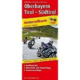 Oberbayern - Tirol - Südtirol: Motorradkarte mit Ausflugszielen, Einkehr- & Freizeittipps, wetterfest, reißfest, abwischbar, GPS-genau. 1:250000 (Motorradkarte/MK)