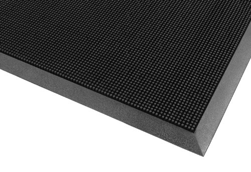 (Notrax 345 Rubber Brush Styrene-Butadiene Rubber Entrance Mat, For Construction Traffic Area and Municipal Buildings, 36'' Width x 72'' Length x 5/8