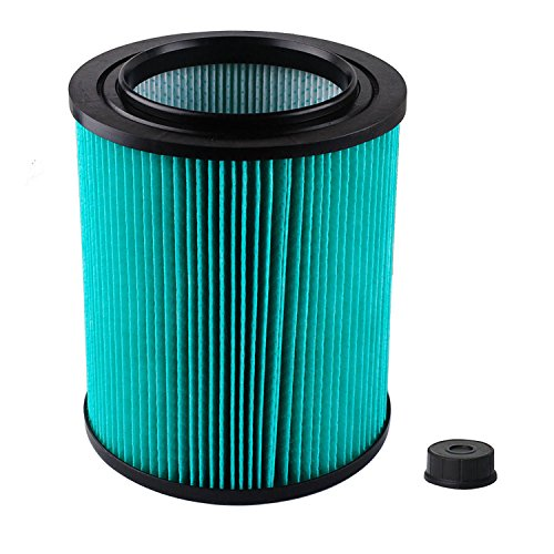 Stripe Wood Ash (Podoy 9-17912 Wet Dry Vacuum Filter Shop Vac Air Filter Replacement Compatible with Craftsman with High Efficiency)