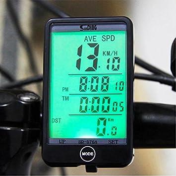 flamebox – grande fácil de leer pantalla impermeable Ciclo ordenador de bicicleta velocímetro odómetro multifunción –