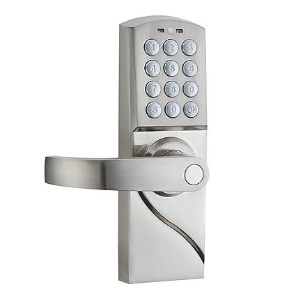 HAIFUAN Left Hand Digital Keypad Door Lock with Backup Keys Electronic Keyless Entry by Password  sc 1 st  Amazon.com & HAIFUAN Left Hand Digital Keypad Door Lock with Backup Keys ...