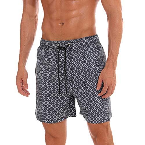 7cfdcaedd2d95 Amazon.com: Simayixx Men Shorts Summer Bathing Suits Mens Casual Sports  Shorts Loose Elastic Waist Gym Jogging Shorts Pants Trousers Gray: Clothing