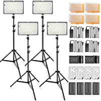 SAMTIAN Dimmable 240 LED Photo Light Kit, 3200/5600K LED Panel Light, 78 Inches Light Stand for Studio Photography and Youtube Video Shooting