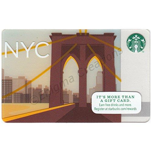 NEW Starbucks 2014 Collectible Gift Card, New York City, Empty, Unused, ()