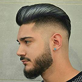 Rossy&Nancy European Virgin Human Hair Toupee for Men with Soft Thin Super Swiss Lace 10″ x 8″ Straight hair pieces #1b Off black Color (Base Size:10″x8″, 1b Off Black Color)