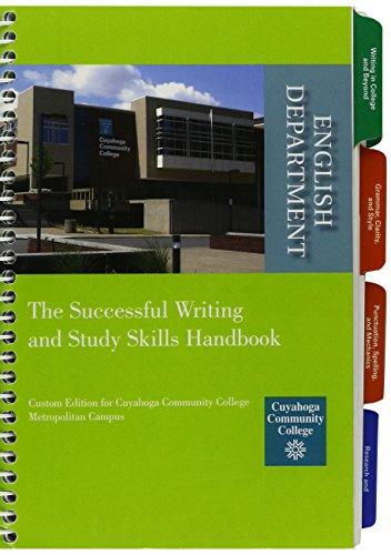 Successful Writing and Study Skills Handbook, Cuyahoga Community College 2012-2013 Edition