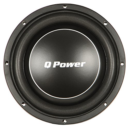 Q Power Deluxe 12 Inch Shallow Mount 1200 Watt Flat Car Subwoofer | QPF12-FLAT (12 Q Power Deluxe Speakers)