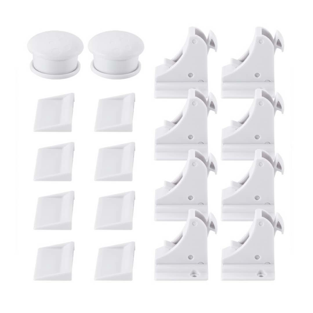 Magnetic Baby Safety Locks of Kikoocare for Cabinets & Drawers,8 Lock + 2 Key for Baby Proofing Cabinets by Kikoocare (Image #7)