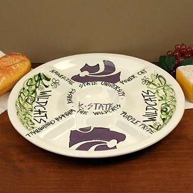 14.5  Kansas State University Ceramic Veggie Platter