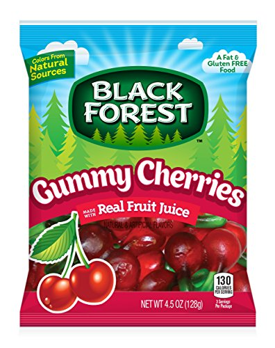 Black Forest Gummy Cherries Candy, 4.5 Ounce Bag (Pack of (Forest Cherry Fruit)