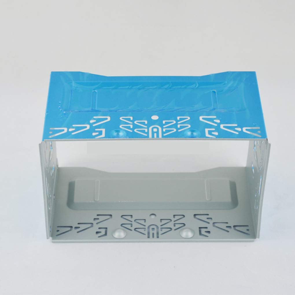 Mengonee Car Stereo reinstalaci/ón Audio Facial Marco del Panel ISO 2DIN Jaula de Metal con los Soportes de instalaci/ón Tornillos Keys