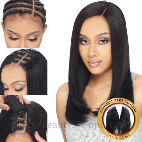"SAGA REMY MilkyWay Premium Quality 100% Human Hair INVISIBLE PART CLOSURE 12"""