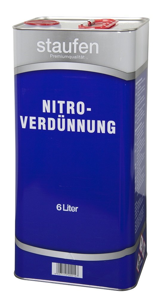 Staufen Nitro Verdü nnung 6 Liter Verdü nner Reiniger Nitroverdü nnung Premium