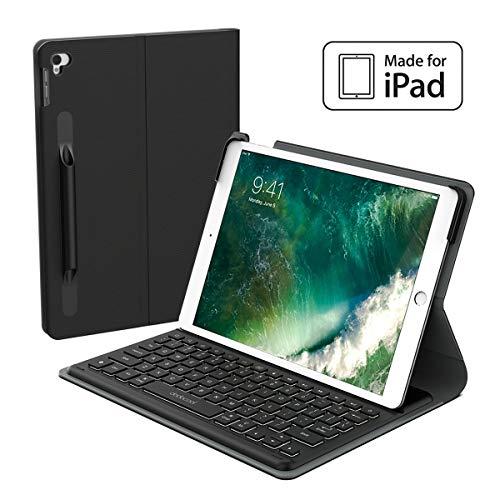 dodocool iPad Keyboard Case 10.5 iPad Pro Case with Keyboard iPad Air 2019 Keyboard Case [MFi Certified] with Smart Connector, Backlit, Shortcuts, Auto Sleep/Wake (Black)